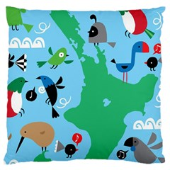 New Zealand Birds Detail Animals Fly Standard Flano Cushion Case (one Side)