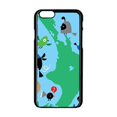 New Zealand Birds Detail Animals Fly Apple Iphone 6/6s Black Enamel Case