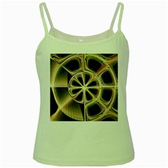 Background With Fractal Crazy Wheel Green Spaghetti Tank