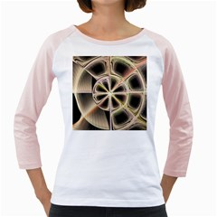 Background With Fractal Crazy Wheel Girly Raglans