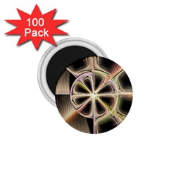 Background With Fractal Crazy Wheel 1.75  Magnets (100 pack)