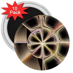 Background With Fractal Crazy Wheel 3  Magnets (10 Pack)