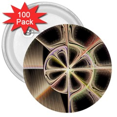 Background With Fractal Crazy Wheel 3  Buttons (100 pack)