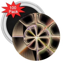 Background With Fractal Crazy Wheel 3  Magnets (100 Pack)