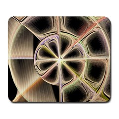 Background With Fractal Crazy Wheel Large Mousepads