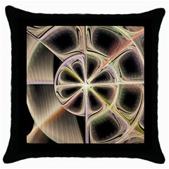 Background With Fractal Crazy Wheel Throw Pillow Case (Black)