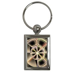 Background With Fractal Crazy Wheel Key Chains (rectangle)