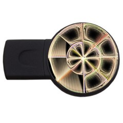 Background With Fractal Crazy Wheel USB Flash Drive Round (2 GB)