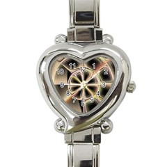 Background With Fractal Crazy Wheel Heart Italian Charm Watch