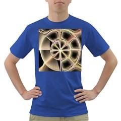 Background With Fractal Crazy Wheel Dark T-Shirt