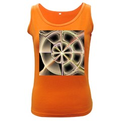 Background With Fractal Crazy Wheel Women s Dark Tank Top