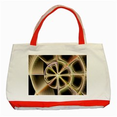Background With Fractal Crazy Wheel Classic Tote Bag (Red)