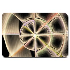 Background With Fractal Crazy Wheel Large Doormat