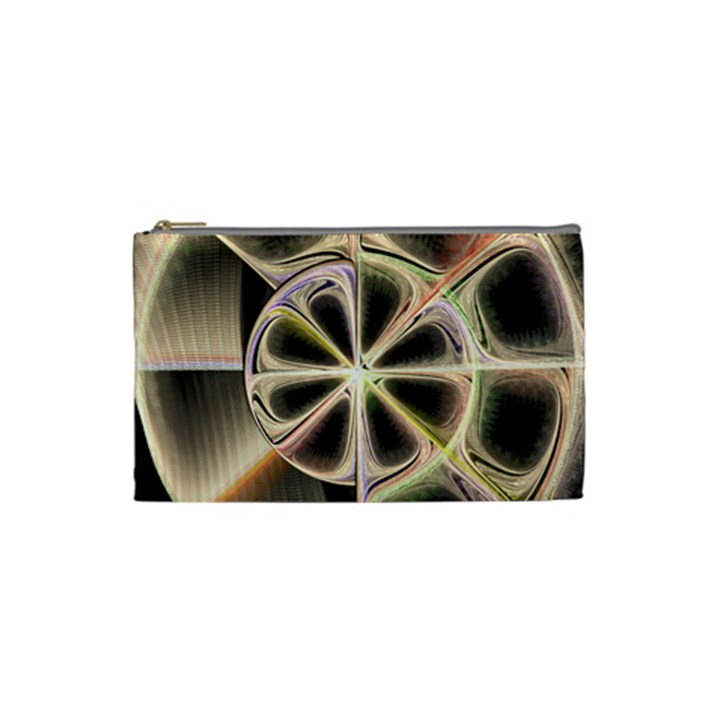Background With Fractal Crazy Wheel Cosmetic Bag (Small)
