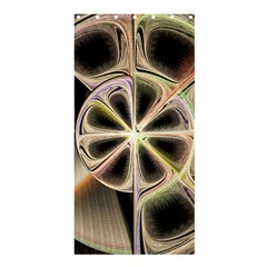 Background With Fractal Crazy Wheel Shower Curtain 36  X 72  (stall)