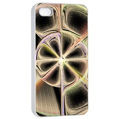 Background With Fractal Crazy Wheel Apple iPhone 4/4s Seamless Case (White)
