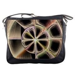 Background With Fractal Crazy Wheel Messenger Bags