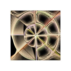 Background With Fractal Crazy Wheel Acrylic Tangram Puzzle (4  x 4 )
