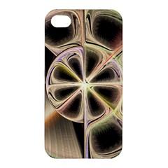 Background With Fractal Crazy Wheel Apple Iphone 4/4s Premium Hardshell Case