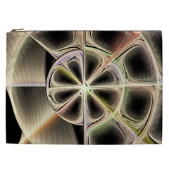 Background With Fractal Crazy Wheel Cosmetic Bag (XXL)
