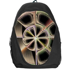 Background With Fractal Crazy Wheel Backpack Bag