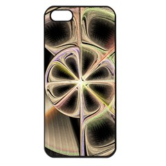 Background With Fractal Crazy Wheel Apple iPhone 5 Seamless Case (Black)