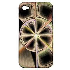 Background With Fractal Crazy Wheel Apple Iphone 4/4s Hardshell Case (pc+silicone)