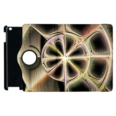 Background With Fractal Crazy Wheel Apple iPad 2 Flip 360 Case