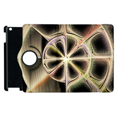 Background With Fractal Crazy Wheel Apple Ipad 3/4 Flip 360 Case