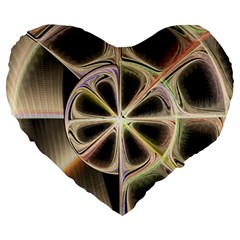 Background With Fractal Crazy Wheel Large 19  Premium Heart Shape Cushions