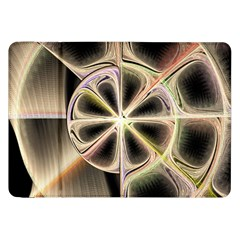 Background With Fractal Crazy Wheel Samsung Galaxy Tab 8 9  P7300 Flip Case