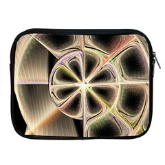 Background With Fractal Crazy Wheel Apple Ipad 2/3/4 Zipper Cases