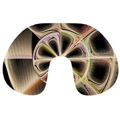 Background With Fractal Crazy Wheel Travel Neck Pillows