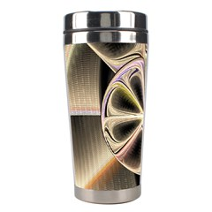 Background With Fractal Crazy Wheel Stainless Steel Travel Tumblers