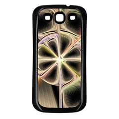 Background With Fractal Crazy Wheel Samsung Galaxy S3 Back Case (Black)