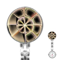Background With Fractal Crazy Wheel Stainless Steel Nurses Watch