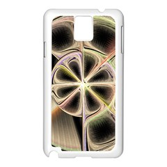 Background With Fractal Crazy Wheel Samsung Galaxy Note 3 N9005 Case (white)