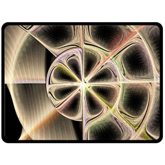 Background With Fractal Crazy Wheel Double Sided Fleece Blanket (Large)