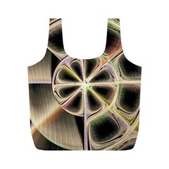 Background With Fractal Crazy Wheel Full Print Recycle Bags (M)