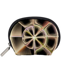Background With Fractal Crazy Wheel Accessory Pouches (Small)