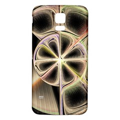 Background With Fractal Crazy Wheel Samsung Galaxy S5 Back Case (White)