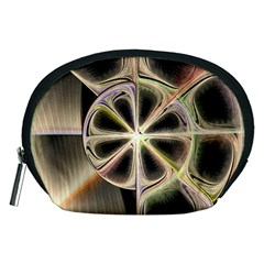 Background With Fractal Crazy Wheel Accessory Pouches (Medium)