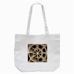 Background With Fractal Crazy Wheel Tote Bag (White)