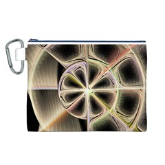 Background With Fractal Crazy Wheel Canvas Cosmetic Bag (L)