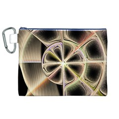 Background With Fractal Crazy Wheel Canvas Cosmetic Bag (XL)
