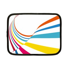 Line Rainbow Orange Blue Yellow Red Pink White Wave Waves Netbook Case (small)