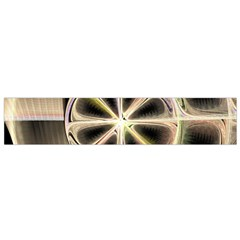 Background With Fractal Crazy Wheel Flano Scarf (Small)