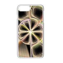 Background With Fractal Crazy Wheel Apple Iphone 7 Plus White Seamless Case