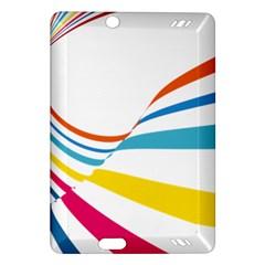 Line Rainbow Orange Blue Yellow Red Pink White Wave Waves Amazon Kindle Fire Hd (2013) Hardshell Case