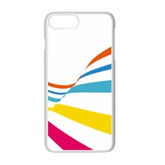 Line Rainbow Orange Blue Yellow Red Pink White Wave Waves Apple Iphone 7 Plus White Seamless Case